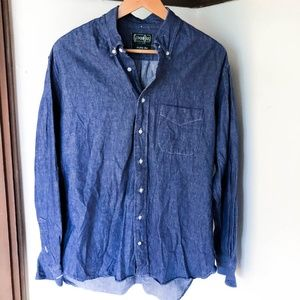GITMAN Bros Vintage Chambray Seed to Sew Shirt XL